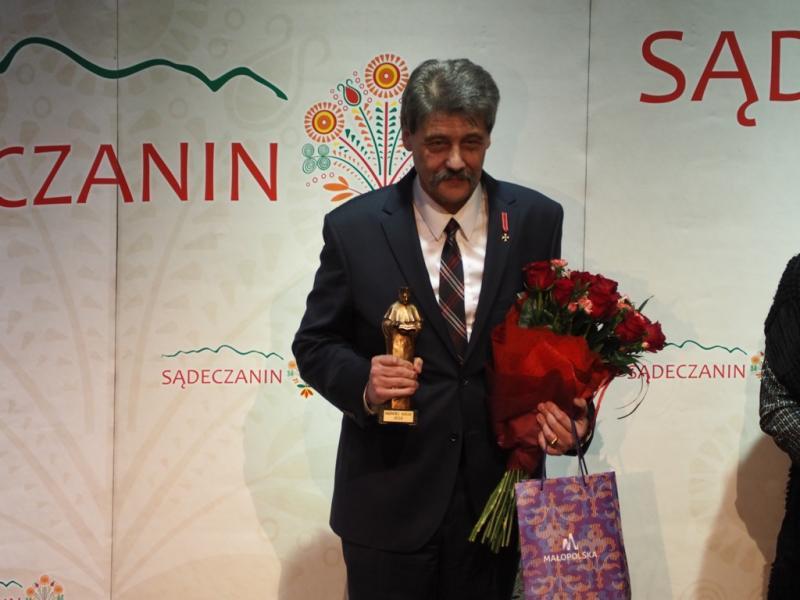 Jerzy Giza, laureatem konkursu im. Ks. Prof. B. Kumora, fot. sadeczanin.info