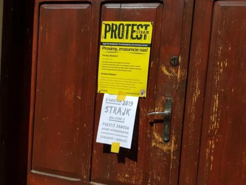 strajk w szkołach w Nowym Sączu, fot. Iga Michalec