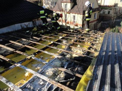 Pożar w Gospodyzie u Krakowiaka