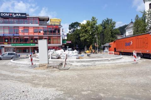 remont drogi w Krynicy