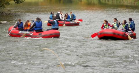 Przeprawa Dunajcem z pomocą pontonów?