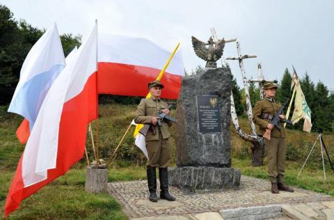 Nowy orzeł na obelisku - 20 msza na Hali Łabowskiej