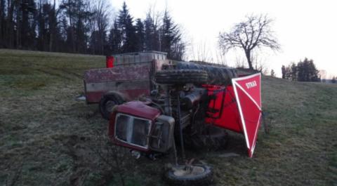 Tragedia w Rozdzielu. Traktor przewrócił się na 63-latka