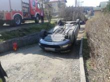 Krynica-Zdrój: cofał samochodem i doprowadził do dachowania