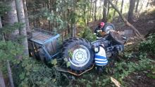 Nie żyje mężczyzna przygnieciony traktorem w Sękowej
