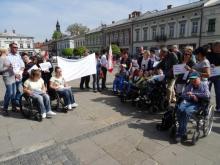 Protest niepełnosprawnych