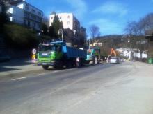 remont ulic w Krynicy trwa