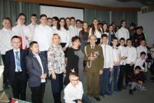 Żołnierz PPAN kpt Stefan Kulig spotkał się z uczniami SP nr 21