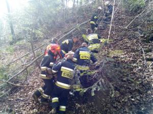 Tragiczny wypadek w Przydonicy. Śmigłowiec LPR zabrał mężczyznę do szpitala