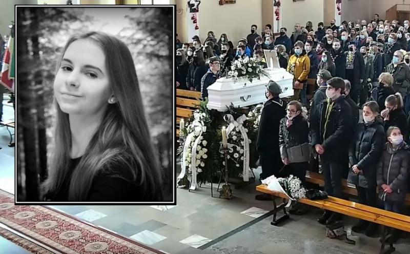 Tłumy żegnały 15-letnią Zuzię, która zginęła w pożarze w Szymbarku [ZDJĘCIA]