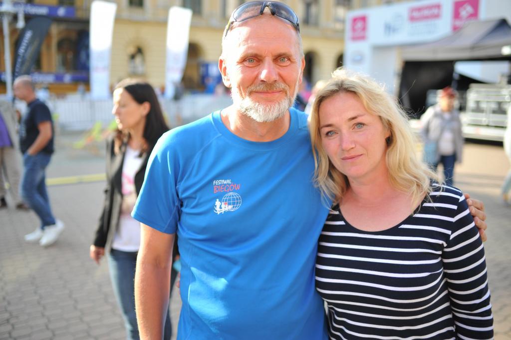 Urszula Gutowska z mężem