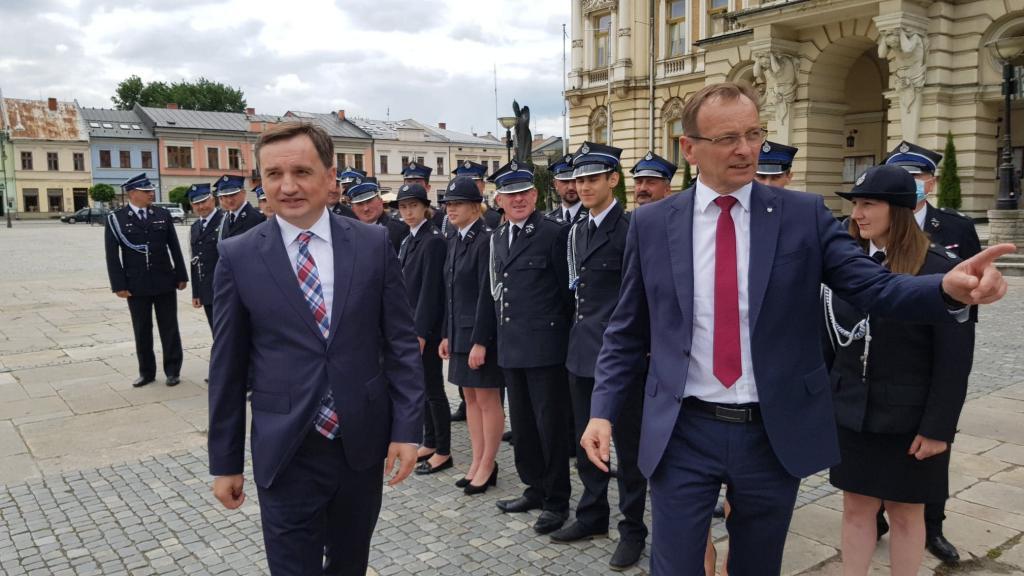 Minister Zbigniew Ziobro i poseł Edward Siarka