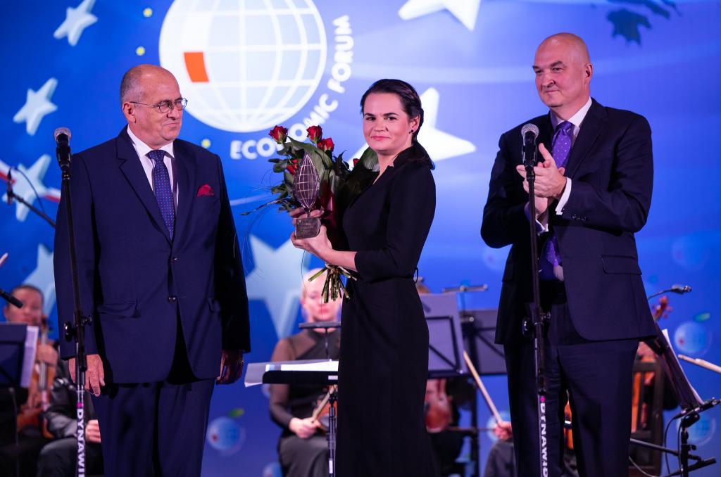Laureatką Specjalnej Nagrody Forum Ekonomicznego została Swiatłana Cichanouska