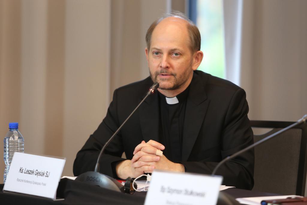 ks. Leszek Gęsiak SJ, rzecznik Konferencji Episkopatu Polski. Fot. Episkopat.pl