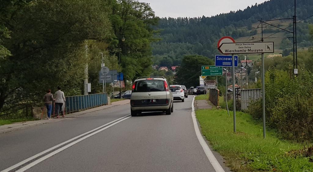 Wjazd do Muszyny od strony Żegiestowa został na długo zablokowany