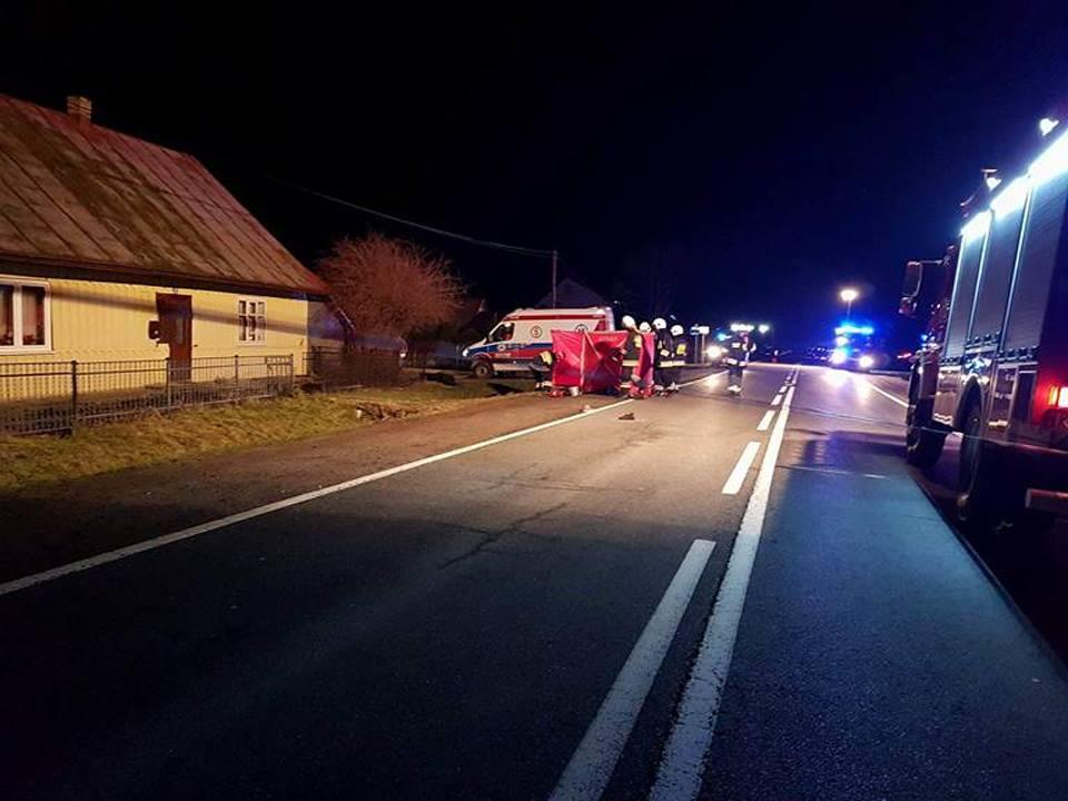Śmiertelny wypadek w Łabowej 25.12.2017