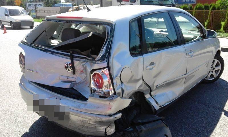 Wypadek na ul. Tarnowskiej w Nowym Sączu