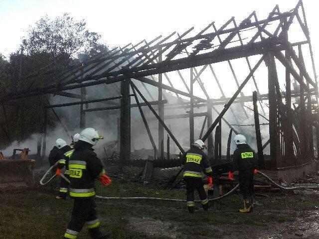 pożar w Zarzeczu, spłonęła stodoła
