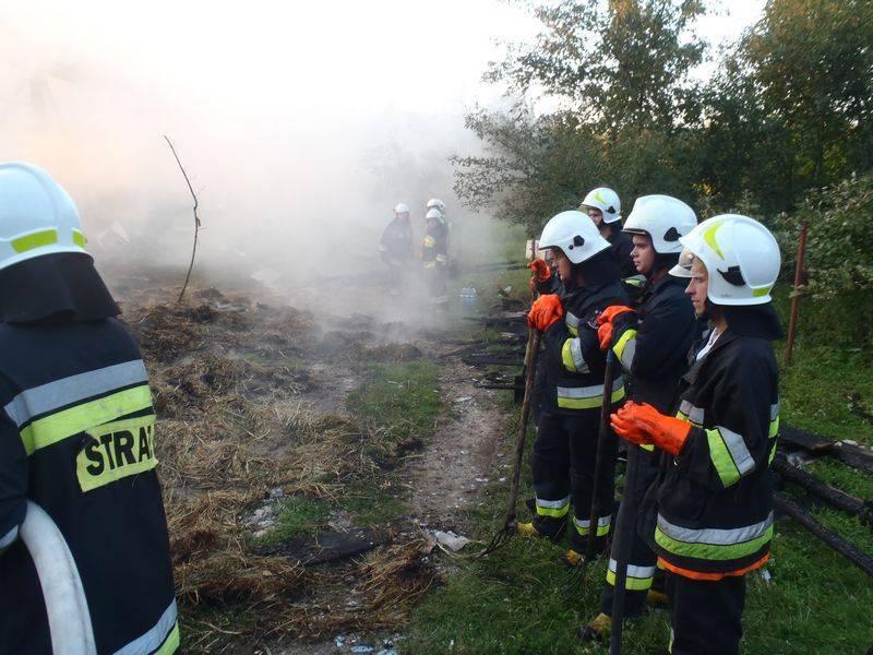 Pożar stodoły w Zarzeczu, budynek spłonął