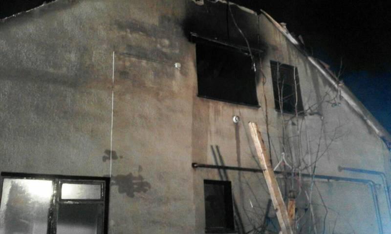 pożar domu w Dąbrowie