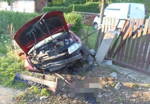 Wypadek w Olszanie. Kierowca nietrzeźwy