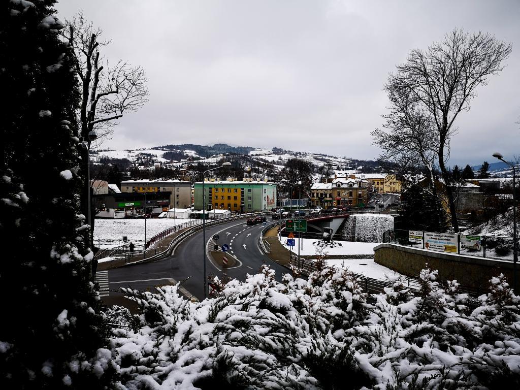 Zimowa panorama Grybowa