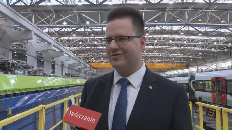 Andrzej Bittel z Ministerstwa Infrastruktury komplementuje Newag