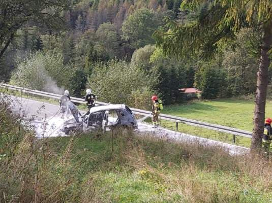 Tylicz: wypadek na DK-75. Fot. czytelnik