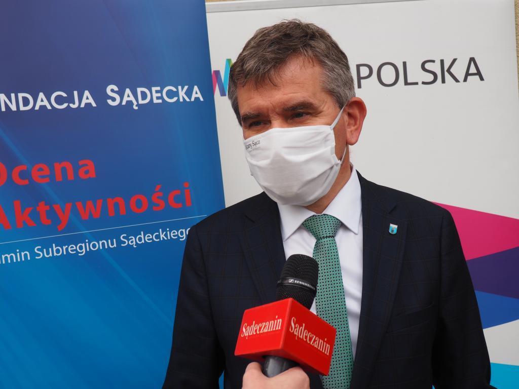 Jacek Lelek, burmistrz Starego Sącza. Fot. Sądeczanin