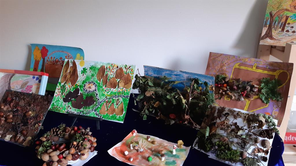 Konkurs Jesienne skarby lasu. Fot. Sądeczanin