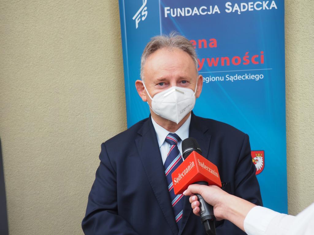 Jan Golba, burmistrz Muszyny. Fot. Sądeczanin