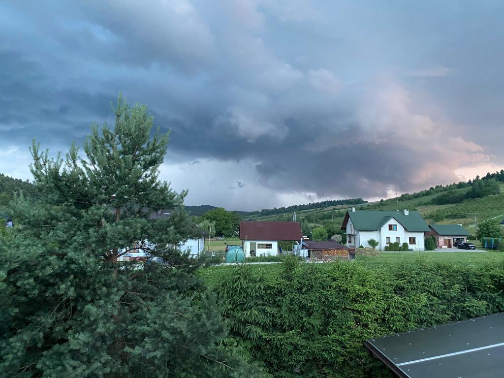 Chmury nad gminą Podegrodzie, Fot. Czytelniczka PS