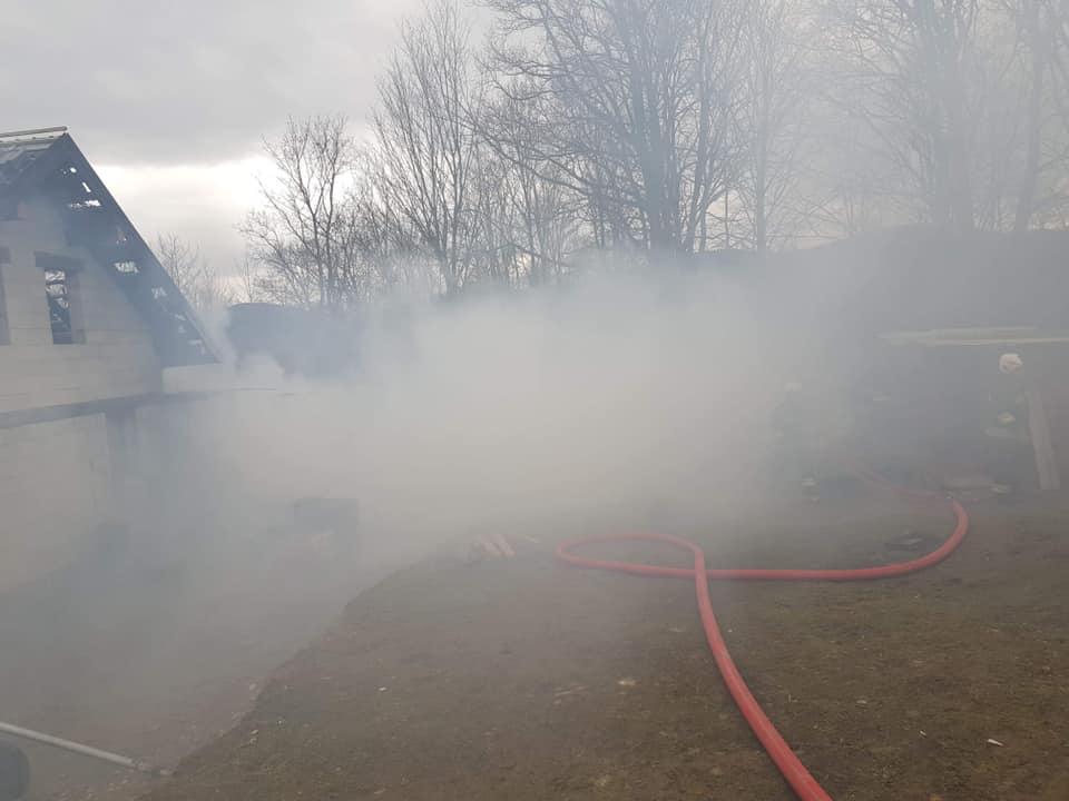 Aż sześć osób w szpitalu. Dramatyczny bilans pożaru w gminie Dobra