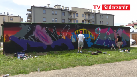 Obrazki z Nowego Sącza: Aleje Piłsudskiego - jest ściana, jest sztuka [FILM]