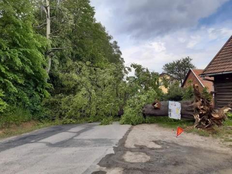 Droga w Kunowie jest już odblokowana. Co tam się stało?