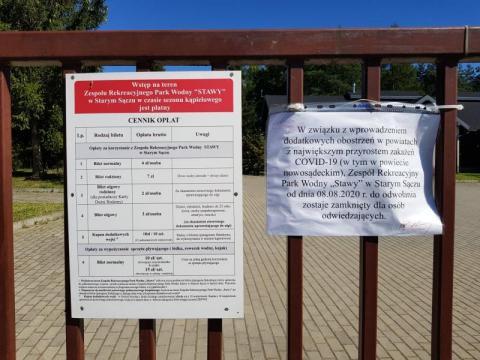Starosądeckie kąpielisko zamknięte na głucho. Powód? Oczywisty