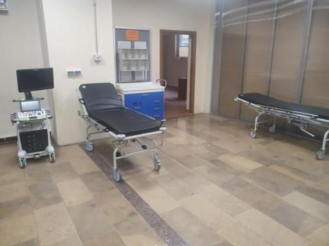 Fot. szpital tymczasowy w Krynicy Zdroju