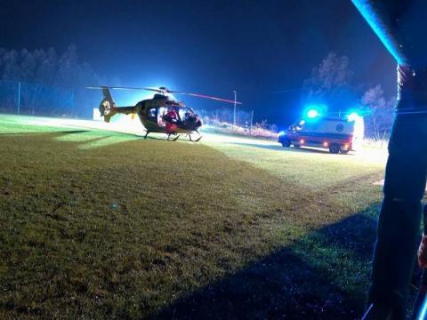 W nocy w Mszanie Górnej lądował śmigłowiec LPR. Przyleciał po 15-latkę