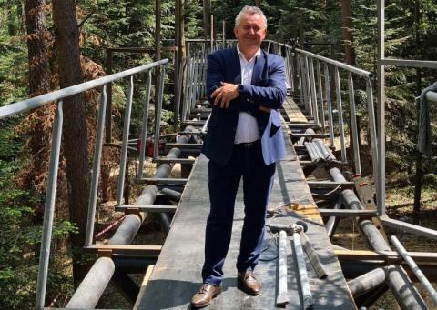 Brak stali i pandemia: jest poślizg na budowie leśnego mola w Starym Sączu