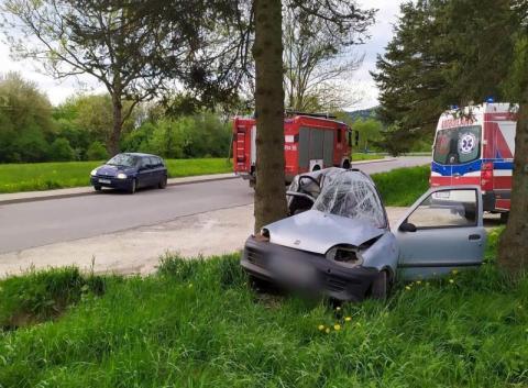 Dramatyczny wypadek koło Gorlic. Z samochodu została jedynie kupa złomu[ZDJĘCIA]