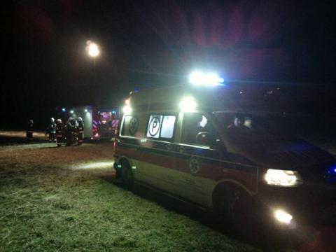 Tragedia w Obidzy. Kobieta przejechała leżącego mężczyznę
