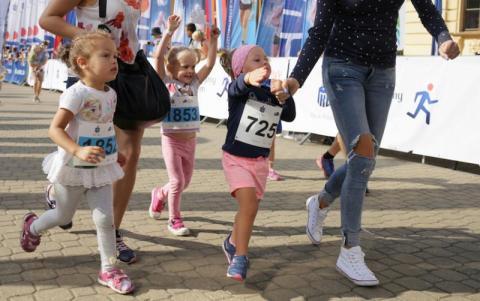 Dzieci podczas Festiwalu Biegowego w Krynicy