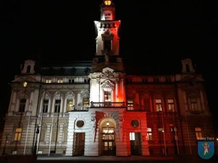 Najlepsze oświetlenie patriotyczne w Polsce, fot. UM w Nowym Sączu