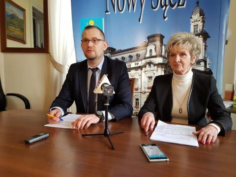 Opozcja o 100 dniach prezydenta Handzla, fot. Iga Michalec