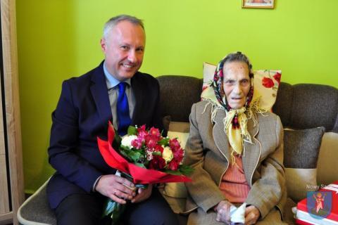 Stefania Legutko - 106 lat, fot. UM w Nowym Sączu
