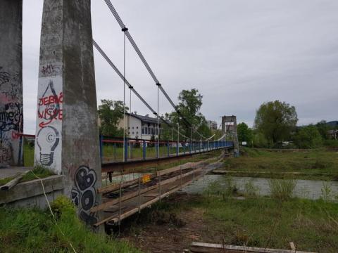 Nowy Sącz: remontowa ofensywa nabiera tempa. Kładka zamknięta
