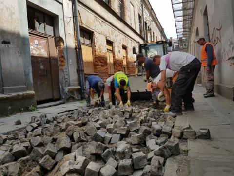 Remont ulicy Wąskiej rozpoczął się, fot. Iga Michalec