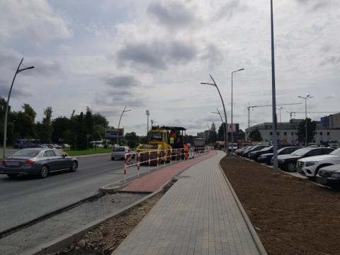 Prace przy ul. Bulwar Narwiku, fot. Iga Michalec