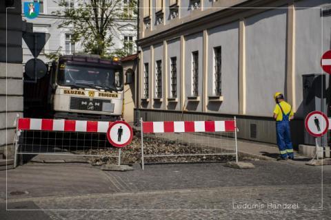 Nowy Sącz: objazdy na Starym Mieście, ruszył remont Hoffmanowej