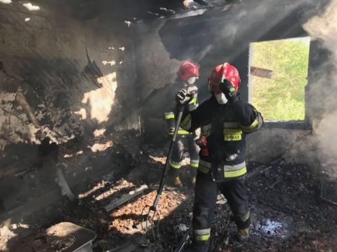 17-latek podpalił dom ojca? Strażacy znaleźli zwęglone ciało